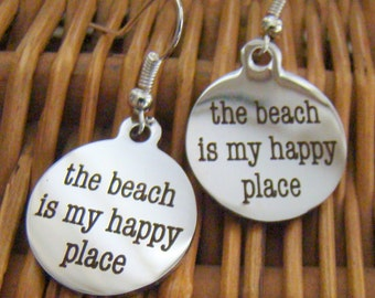 Happy Place Earrings, Summer Earrings, Beach Lover Earrings