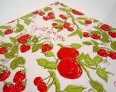 Vintage 1970's All Occasions Wrapping Paper | Red Green Strawberries Strawberry Gift Wrap
