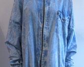 Vintage Acid Washed Denim Shell Jacket