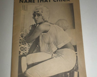 Vintage Risque Men's Magazine - Name That Chick - Pinup Magazine - December 1962 Issue - Missing Cover - Volume 1 Number 6 - Centerfold