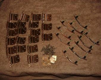 Vintage--1960's--Cabinet HARDWARE--Ajax Brand--Hinges--Drawer--Handles/Pulls--Screws--Copper Color
