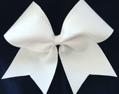 Custom Cheerleader White Cheer Hair Bow
