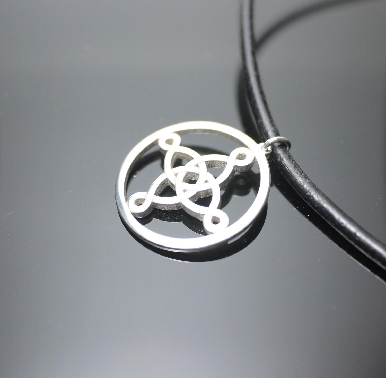 Silver Celtic Necklace, Pendant Charm