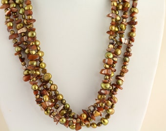 Freshwater Pearl Necklace. Listing 453748618