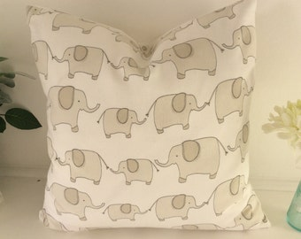 Elephant Cushion Cover, Pillow Cover 16x16 inch or 40x40cm, great for a nursery or animal lovers