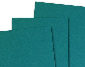 Basis TEAL 80lb Card Stock 8.5x11 - 25 sheets