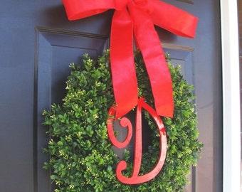FALL WREATH SALE Christmas Decor- Christmas Wreaths Holiday Boxwood Wreath, Christmas Wedding Decor 16-22 inches available