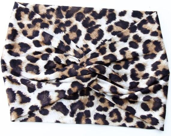 Leopard Headband Turban Twist Headband Stretchy Headband Wide Turban Headband Women's Gift Beach Accessory Summer Fashion Hair Accessory