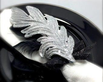 Silver Sparkle Feather Napkin Rings - New Year's Eve - Glam Party