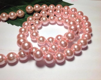 Glass Pearls Pink (4mm, 6mm, 8mm, 10mm, 12mm)