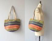 Oaxaca sisal tote | vintage woven sisal bag | large sisal shoulder bag