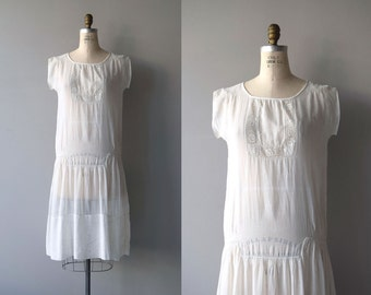 Little Things dress | vintage 1920s dress | white antique 20s dress