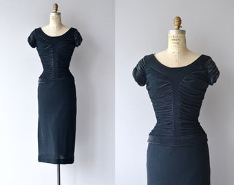 Hématite Pierre dress | vintage 1950s dress | 50s wiggle dress