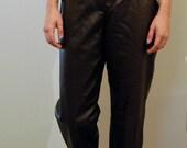 Leather Brown Fashion Pants High Waist