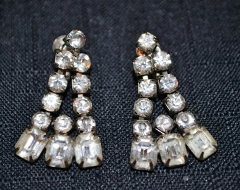 Rhinestone Vintage Coro Rhinestone Earrings