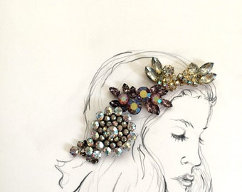 Breathing Dreams Like Air: Girl with Rhinestone Crown Mixed Media Photo Print