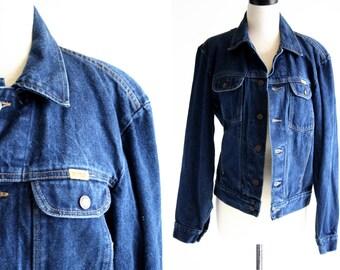 Unisex Vintage Medium Wash Rustler Denim Jean Jacket