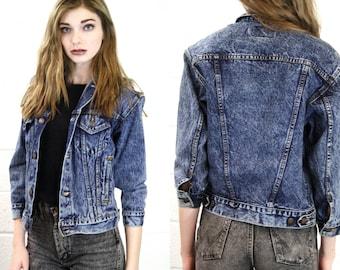 Levi Woman's Vintage Stonewashed Denim Jean Jacket