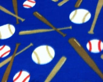 RaToob, Take Me Out To The Ballgame Bright Blue with Bats and Balls