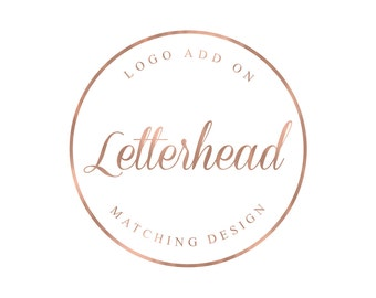 Matching Letterhead Design Only
