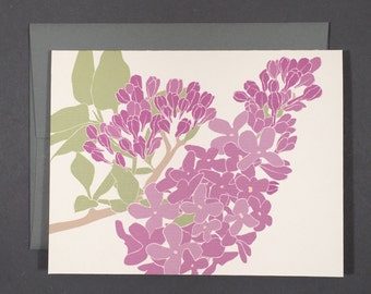 Lilac Single Card