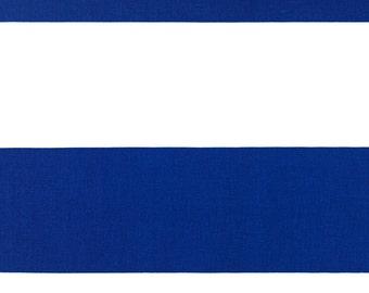 Cobalt Blue Stripe Curtain Panels   Pair Of Rod Pocket Curtains   Premier  Prints Cabana Cobalt