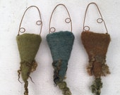 Wet Felted Vessels Set of Three Dry Vases Fiber Art Project Treasure Holder Delaware Fun A Day Project Set No.7
