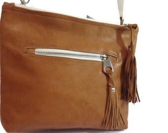 Brown Leather Bag,Cross-Body Bag,Leather Bag, X-body,Shoulder Bag,Hip Bag,Travel Bag,Everyday Bag,Multi-Use Bag,Adjustable Bag,Messenger Bag