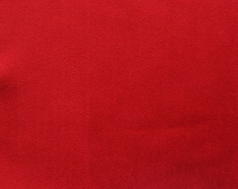 Red Faux Suede Fabric / Microsuede / Suedette - Large Fat Quarter - Vegan Suede