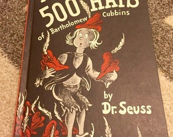 Dr. Seuss The 500 Hats of Bartholomew Cubbins Vintage Childrens Book 1938