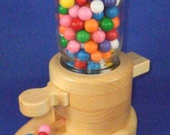 Handcrafted Wooden Gumball Dispenser