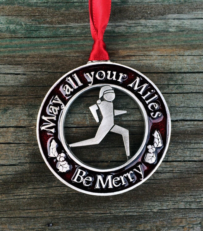 Christmas Gifts For Runners: Marathon Runner Christmas GIFT Ornament For Runner Marathon