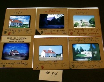 Kodachrome Slides 1940s 50s Mixed Lot Of 12 / No.34