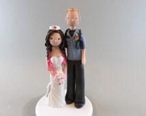 Cake Topper - Customized Nurse & Paramedic Wedding