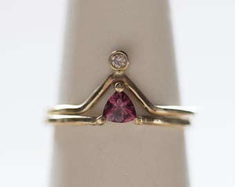 Garnet Crown Ring