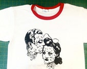 Lovers SilkScreened Men's Ringer T-shirt by Penelope Gazin