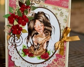 Mother Mary Handmade Greeting Card