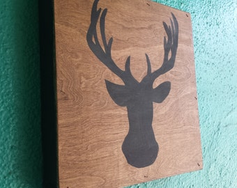 Oh Deer .... Hand Painted wood sign