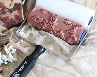 Fleur Stencil Roller Paint Applique