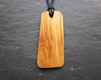 "Natural Wood Pendant - Birch/Beith - Unique Ogham ""Secret Sigil"" Design."