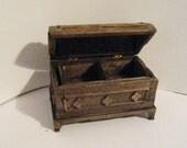 Tudor blanket chest, Dollhouse  Blanket Box,Round top chest, blanket chest, Dower chest,  Twelfth scale, dollhouse miniature
