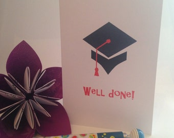 Well done! Graduation card- Iris folded scene greeting card (printed)