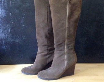 Franco Sarto olive suede knee high boots 8.5