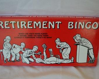 Vintage RETIREMENT BINGO unused complete funny game USA made