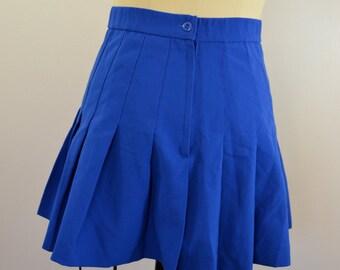 Vintage VARSITY Cheerleader Skirt size 6 blue