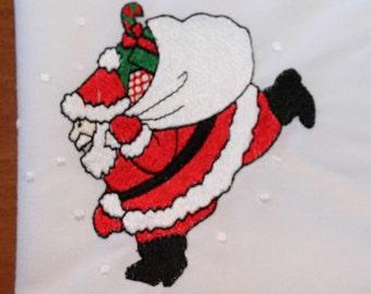 on sale Vintage CHRISTMAS NAPKINS cloth set of 4