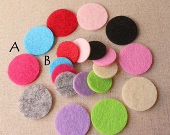 10 Felt Pads, Felt Perfume pads, Oil diffuser pads, felt locket pads, replacement felt pads Aromatherapy felt pad locket felt 30mm or 21mm