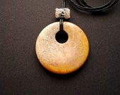 Pendant - Fossil Coral - geometric, modern, contemporary, adjustable , art to wear, ooak - by Schneider Gallery