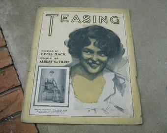 1904  vintage sheet music (  TEASING  )