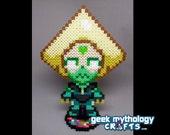 PERIDOT Steven Universe - Perler Bead Sprite Pixel Art Character Figure